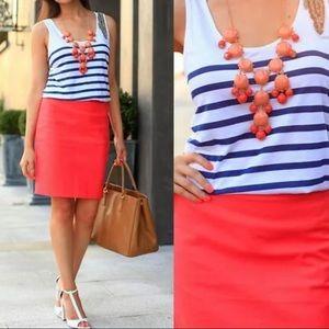 NWT J. Crew Coral Velvet Skirt